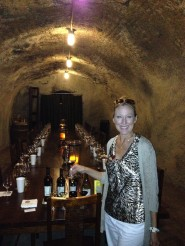 Wine tasting in the caves